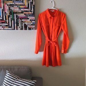 Vibrant Orange Romeo & Juliet Couture Shirt Dress